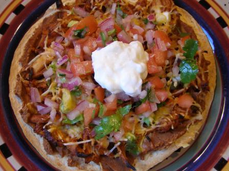Barbecued Chicken Tostados Ww 8 Pts