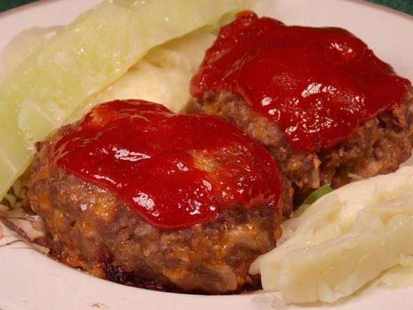 Lower Fat Li'l Cheesy Mini Meatloafs (Oamc)