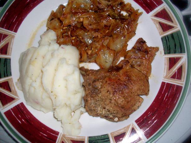 Martha Stewart's Cabbage and Pork Chop Quick Cook