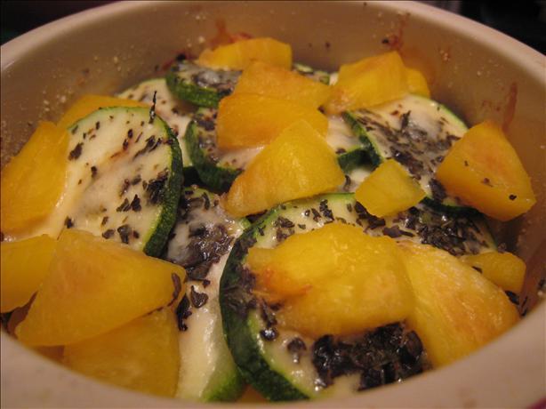 Fresh Peach and Zucchini Casserole