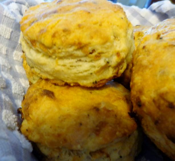 Caramelized Onion Sourdough Biscuits from KAF