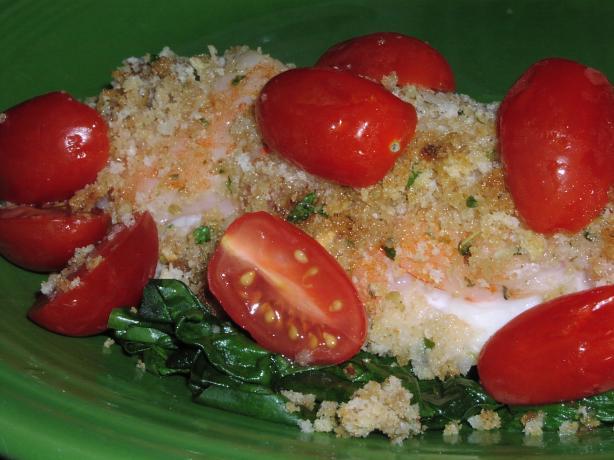 Shrimp and Tilapia Oreganata