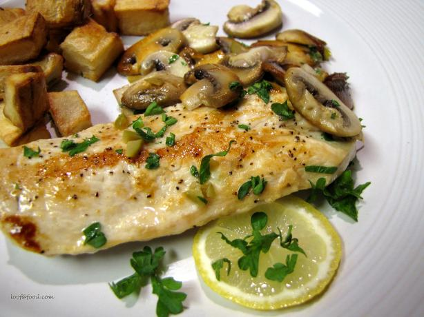Skillet Chicken Cutlets With Mushrooms