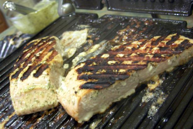 Dill-Mustard Grilled Salmon