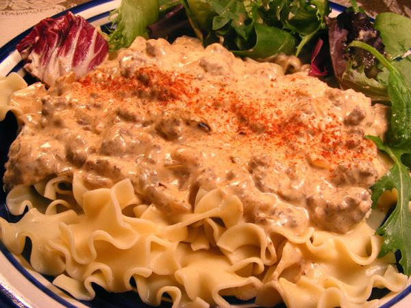 Speedy Hamburger Stroganoff