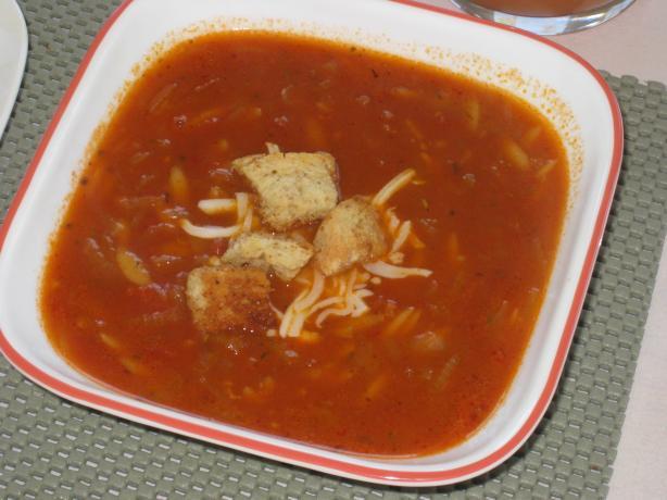 Mediterranean Onion-Orzo Soup