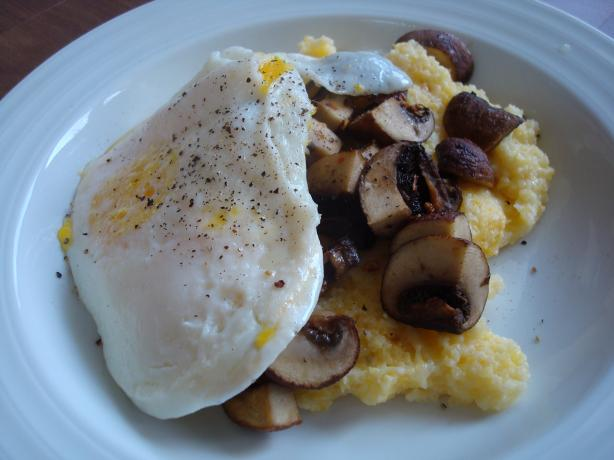 Parmesan Polenta With Eggs and Roasted Mushrooms