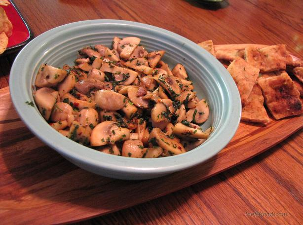 Garlic Mushrooms With Basil