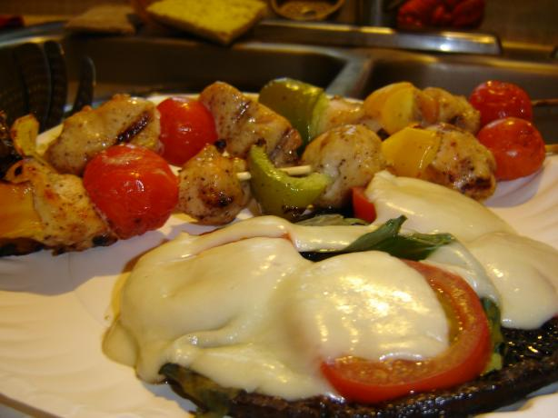 Caprese Portabella Mushrooms