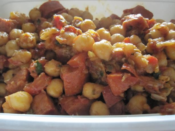 Spanish Garbanzo Beans and Tomatoes