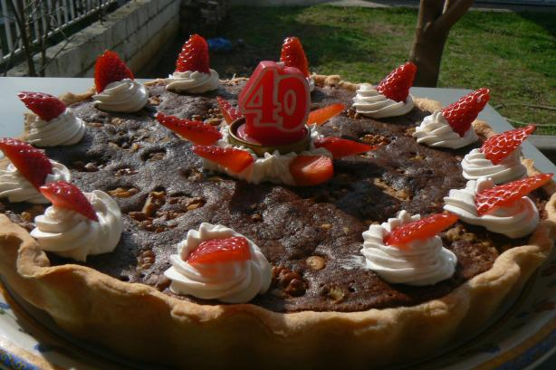 Fudge Walnut Pie