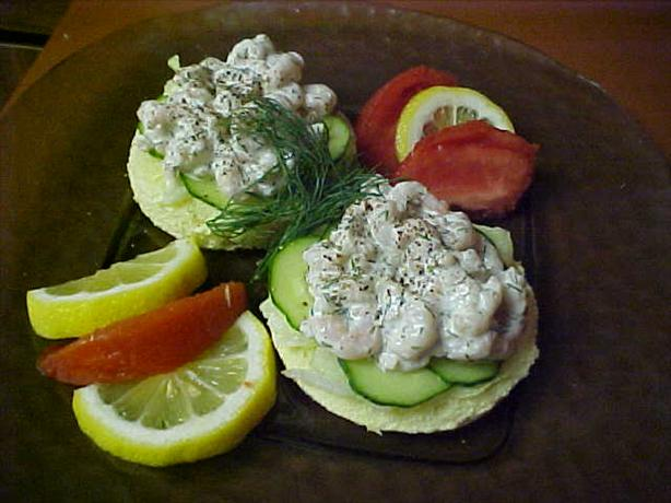 Open - Face Bay Shrimp Sandwich