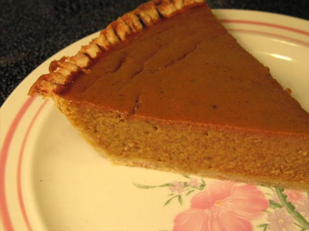 Smooth Pumpkin Pie