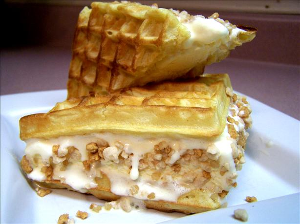 Waffle Ice Cream Sandwiches With the Works!