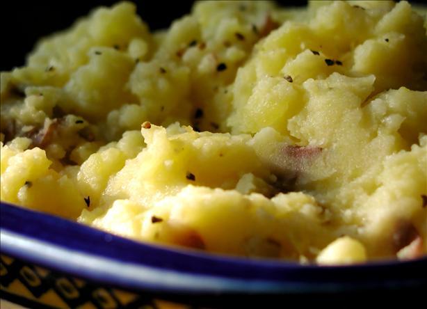 Montreal Garlic Smashed Potatoes