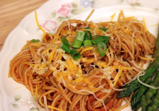 Fiesta Skillet Spaghetti
