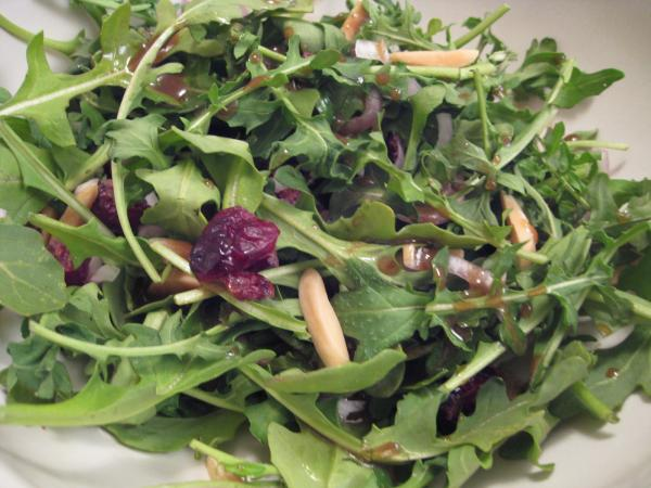 Arugula and Almond Salad With Dried Cranberries