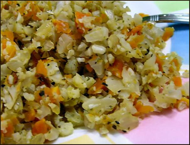"Cauliflower Confetti "" Rice """