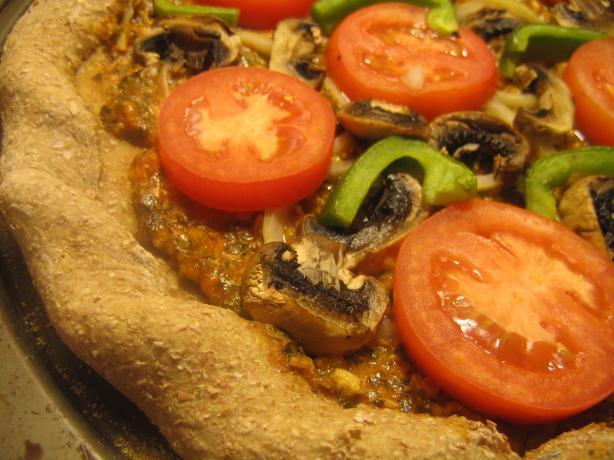 Vegetarian/Vegan Pizza (No Cheese)