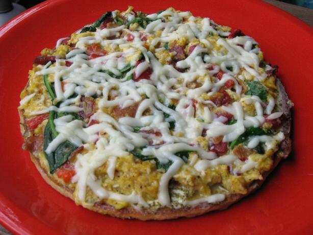 Spinach Scrambler Pizza