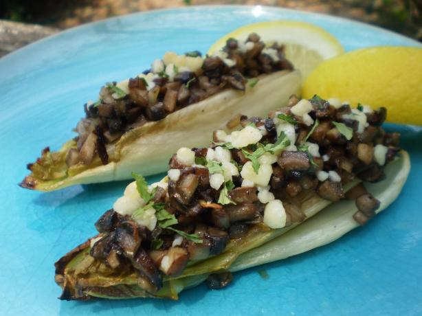 Roasted Endives With Mushrooms