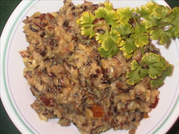 Wild Rice With Walnuts and Dates