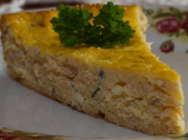 Salmon and Chive Crustless Quiche