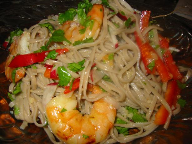 Sesame Thai Noodles With Shrimp