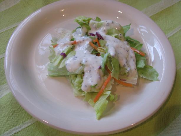 Low Fat Buttermilk Basil Salad Dressing