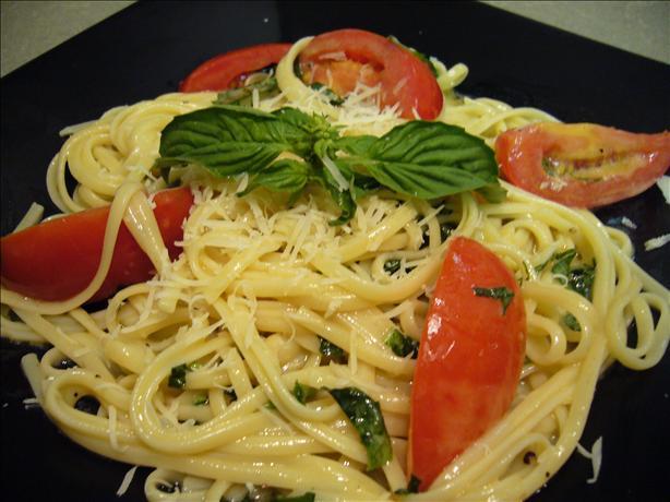 Brie & Tomato Linguine