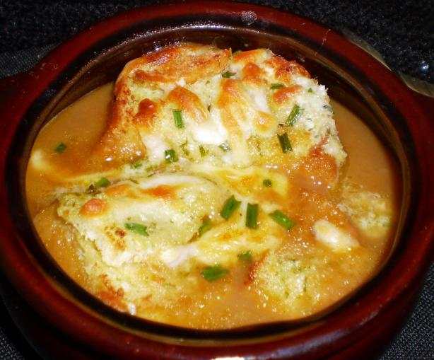Gratin Onion Soup With Tomatoes