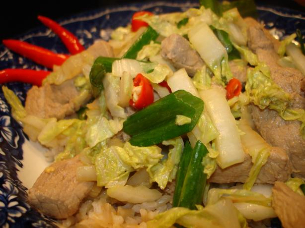 Japanese Pork and Ginger Cabbage