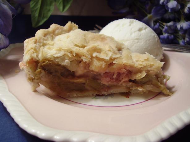 Pie Plant Pie Aka Rhubarb Pie