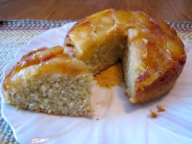 Aunt Betty's Apple Upside Down Corn Bread
