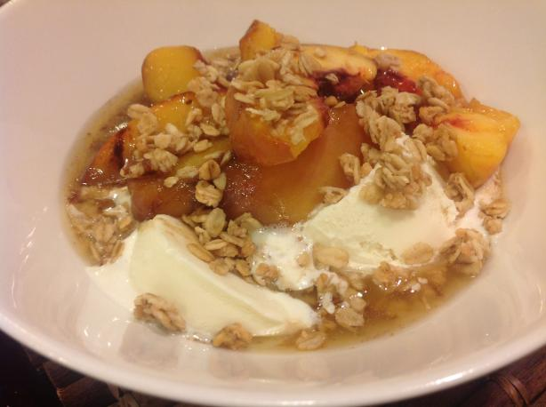 Bobby Flay's Grilled Peach Cobbler a La Mode
