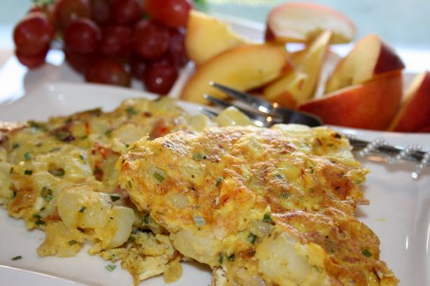 Potato Saffron Omelet