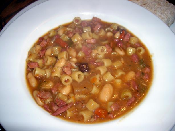 Mix and Match Pasta and Bean Soup