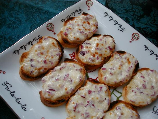 Parmesan and Red Onion Hors D'oeuvres