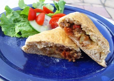 Homemade Bread Pocket With Pizza Filling (Oamc)