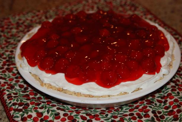 Cherry Almond Creamy Cheese Pie