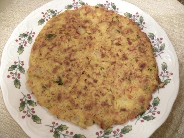 Tapas--Potato Saffron Omelet