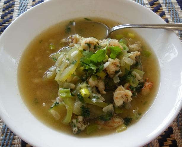 Canh Bau Tom - Vietnamese Opo Squash Soup