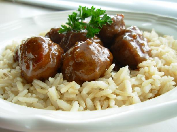Kittencal's Honey-Garlic Glazed Meatballs