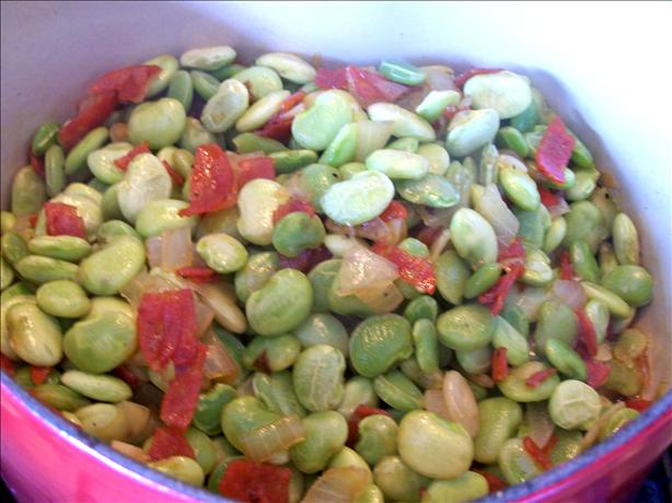 Lima Beans With Bacon