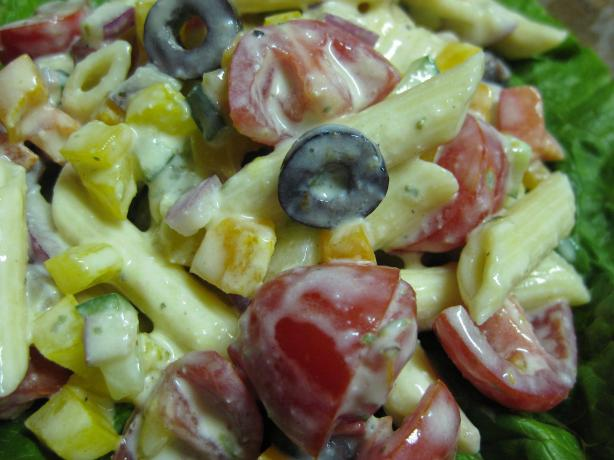 Zesty Greek Pasta Salad