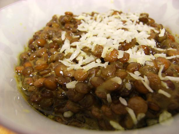 Quick & Easy Coconut Brown Lentils (Vegan)