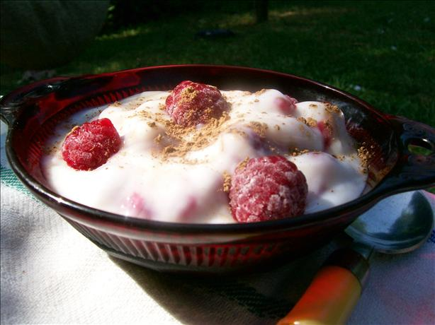 Quick and Healthy Raspberry Yogurt Treat