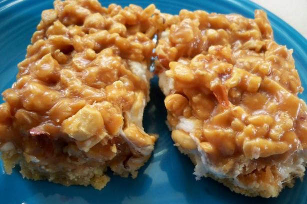 Salted Peanut Chew Bars