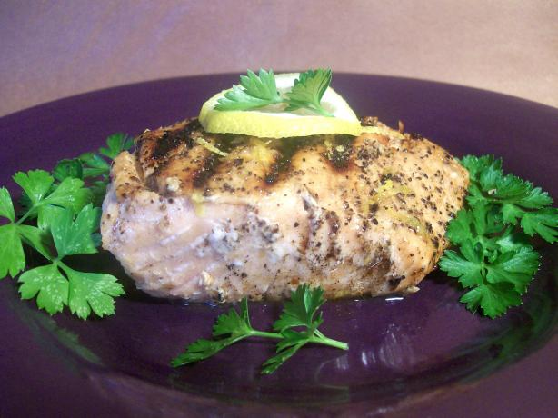 Citrus Infused Salmon With a Citrus Pepper Crust.
