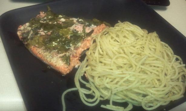 Lemon Cilantro Baked Salmon